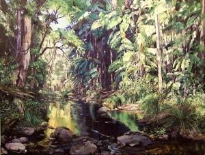 Chris Seale - Golden Light, Austinville, 920 x 1220, Oil on canvas