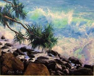Chris Seale - Burleigh Wave, 980 x 1170, Acrylic
