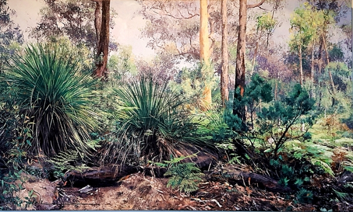 Chris Seale, Australian Bush, 910 x 1520, acrylic on canvas