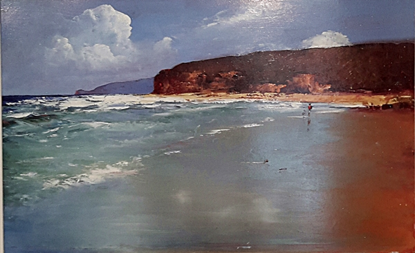 Brian Cook - Beachwalk - Oil on board - 600 x 890