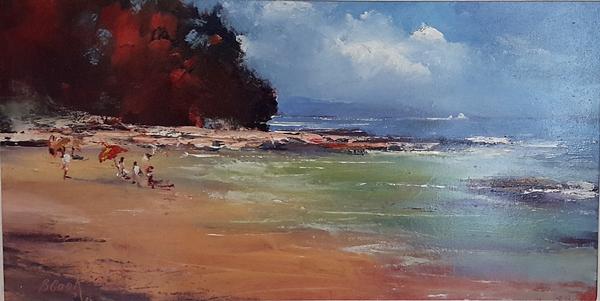 Brian Cook - Distant Rain - Oil on board - 420 x 655