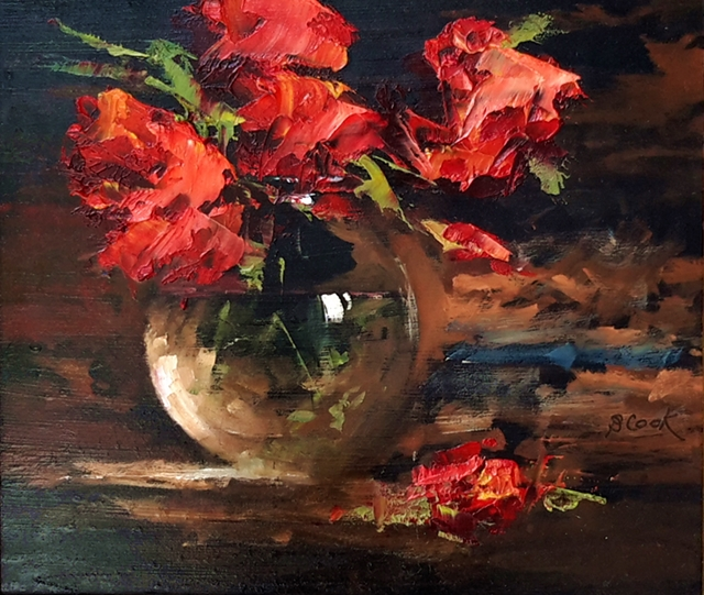 Brian Cook - Glass - Oil on board - 420 x 460 (framed)