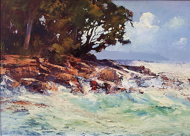 Brian Cook - High Tide - Oil on canvas - 660 x 870