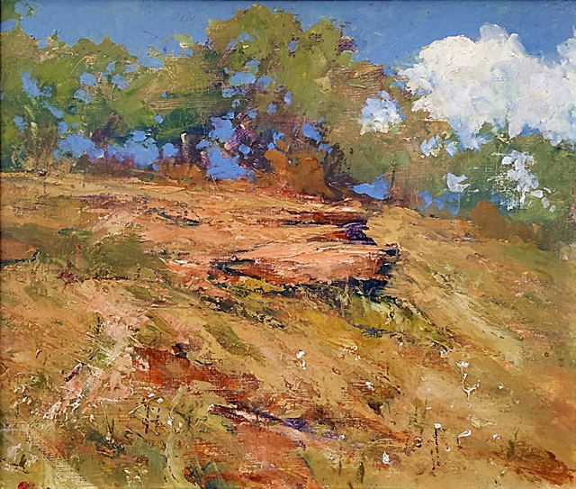 Brian Cook - Hillside - Oil on board - 530 x 610