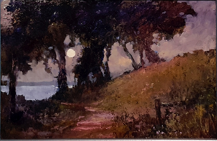 Brian Cook - Moonrise - oil on board - 490 x 695mm