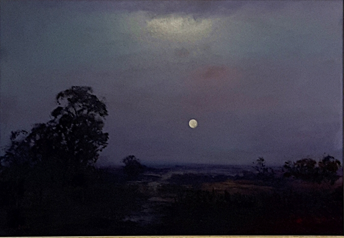 Brian Cook - Nocturne - 780 x 1080mm - oil on board