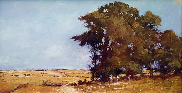 Brian Cook - Shady Grove - Oil on board - 550 x 875
