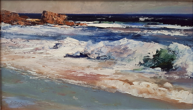 Brian Cook - The Wave - Oil on board - 400 x 600