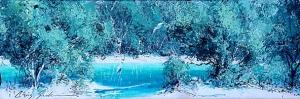 Chris Seale, Broadwater Study I, Acrylic, 690 x 300