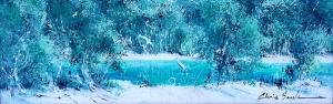 Chris Seale, Broadwater Study II, Acrylic, 690 x 300