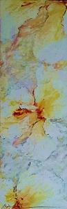 Chris Seale, Hibiscus, Acrylic on canvas, 1220 x 400