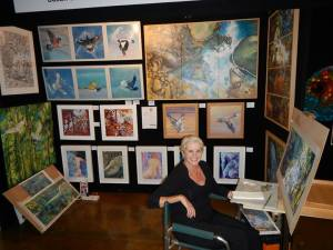 Sue at Life Art Worldwide in Brisbane