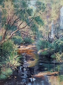 Chris Seale, Winding Creek, Acrylic, 1090 x 880