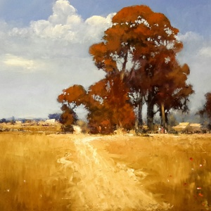 Brian Cook, A Sunburnt Country, Oil on board, 950x1220