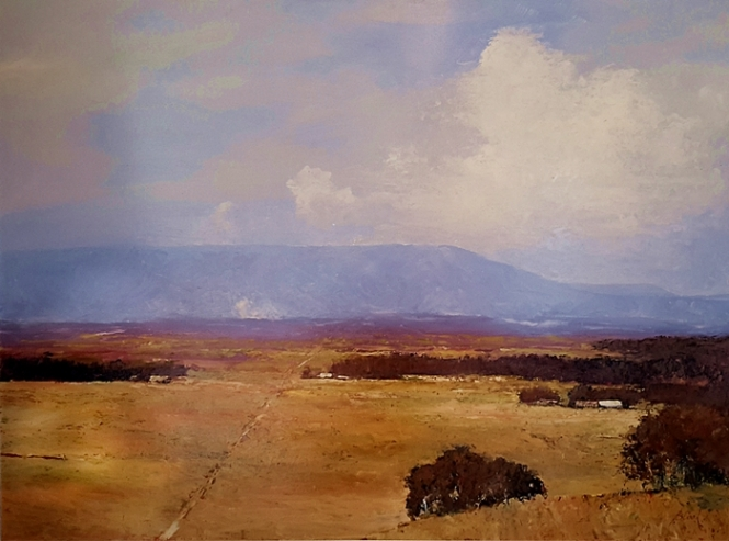 Brian Cook - Towards Tamborine - Oil on Board - 1020 x 1320