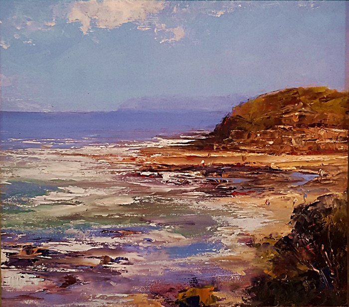 Brian Cook - Low Tide - Oil on Board 510 x 570mm - $1800