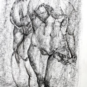 Maki Horanai | Figure Study #4 | 840 x 700mm | $625