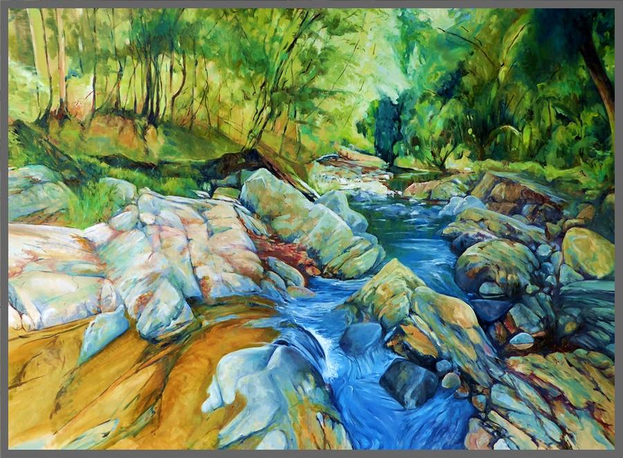 Meditation #6 Mudgeeraba Creek framed