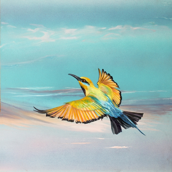 The Art of Riding on the Wind No. 6 Rainbow Bee Eater.web