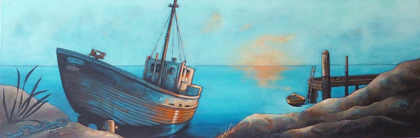 Mary Conder | Sea Eagle | Acrylic on canvas | 530 x 1520mm | $1500