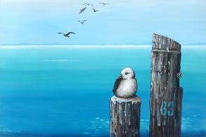 Mary Conder   Sixty three   Acrylic on canvas   500 x 760mm   $950
