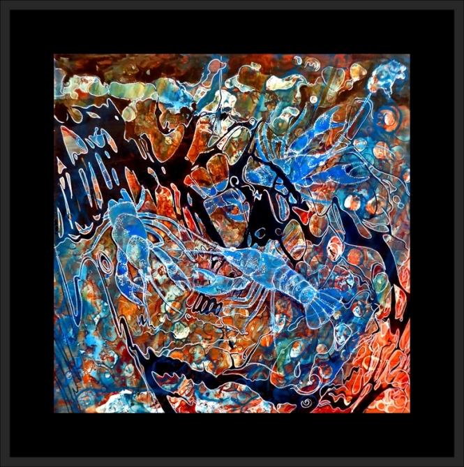 Blue Crayfish framed