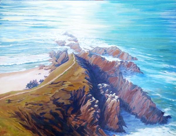 Ladley, Byron Rocks 90 x 120 $900