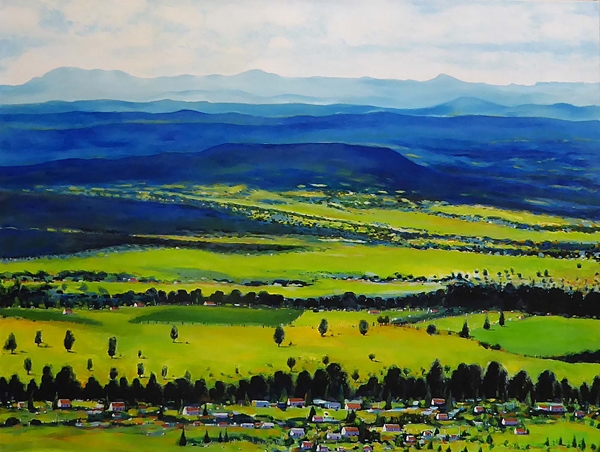 Louise Grove Wiechers | Hinterland Scenic Rim | Acrylic on Linen | 101 x 155cms | $3,500