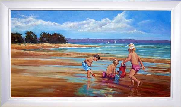 Seaside Memories | Hillier and Skuse | Oil on board | 60 x 115 cms | framed | $3,200