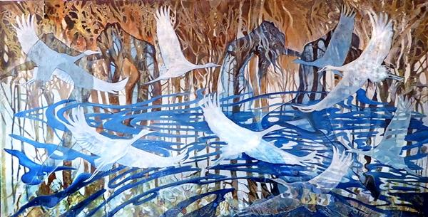 Dance of the Egrets web