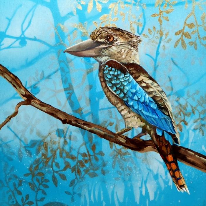 Feathery all-sorts 5 Blue Winged Kookaburra.web