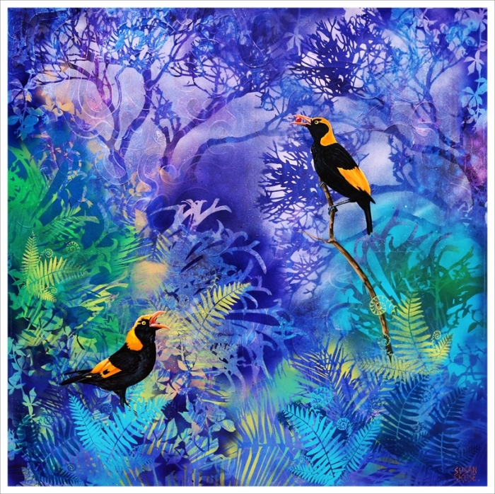 Blue Forest with Regent Bowerbirds.web f