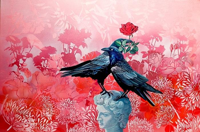 Crows, Rose, Michelangelo's.web