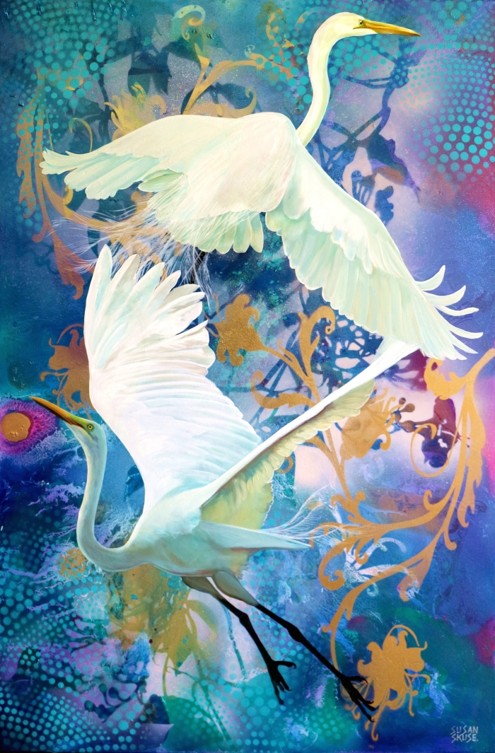 Duet - Great Egrets (2)