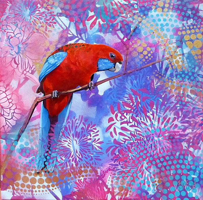 Parrot Pinups #2 - Crimson Rosella