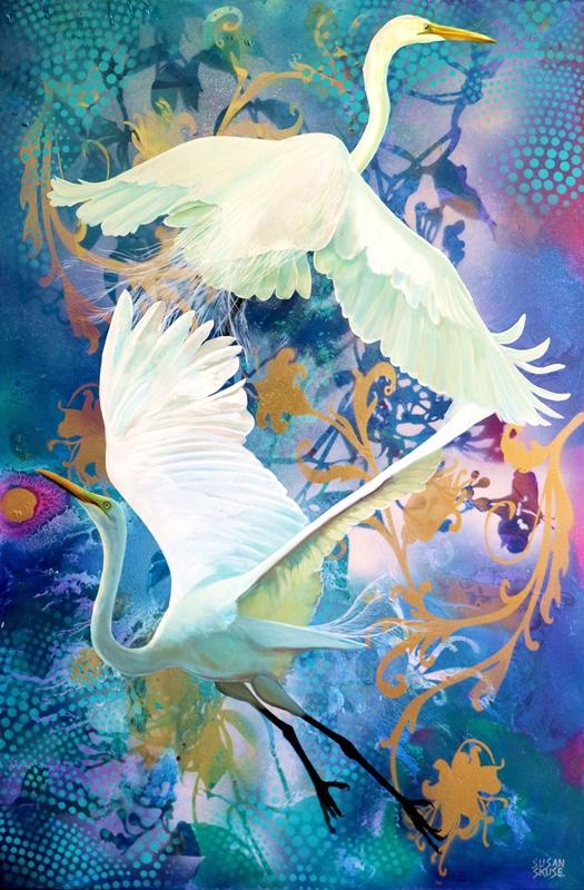 Duet - Great Egrets (2) web